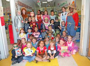 Students dress up as storybook characters for Halloween