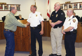 City honors Daleville officers for saving man's life