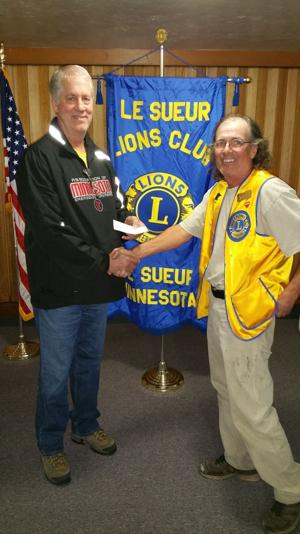 Le Sueur Lions donation to the City of Le Sueur