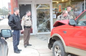 Truck hits DuFour's Cleaners