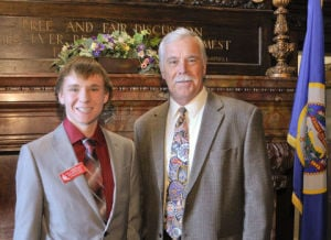 Janesville-Waldorf-Pemberton student served as  Page for a Day