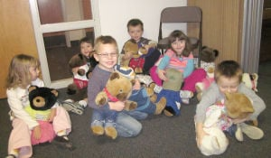 Students at Little Lambs Preschool in Northfield complete service project