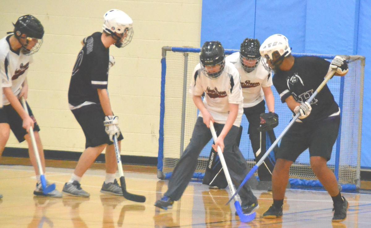 Adapted floor hockey