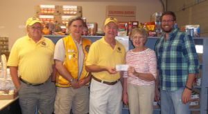 Le Sueur Lions donate $2,500 to food shelf