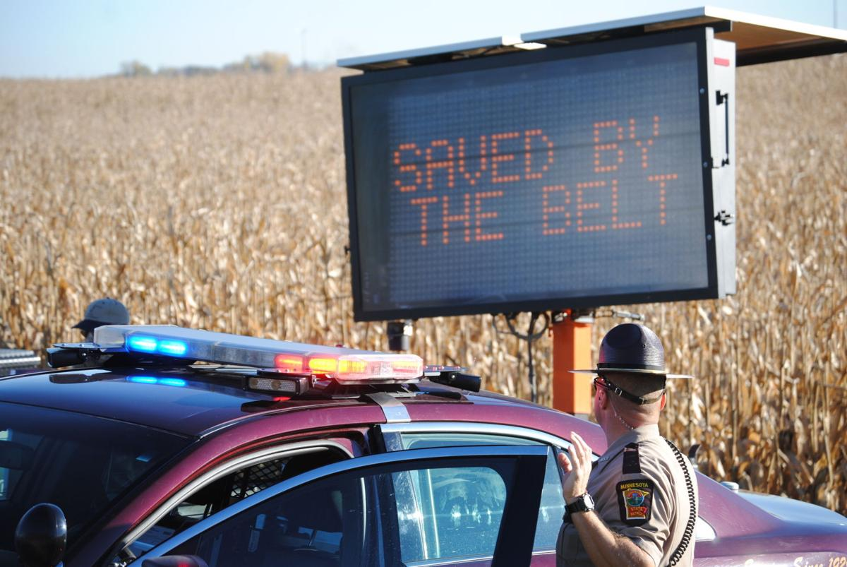 Rice County law enforcement awards seat belt-wearing motorists who survived crash