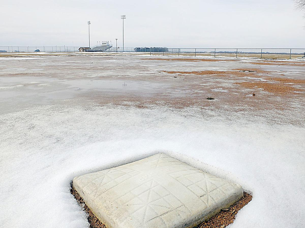 Icy infield