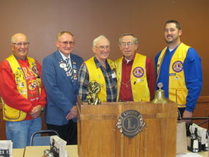 Waseca Lions Club speaker District Governor Lion Harry Klenke