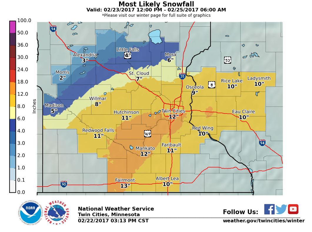Winter's back: NWS says prepare for up to foot of snow