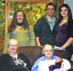 Five generations of a Waseca family