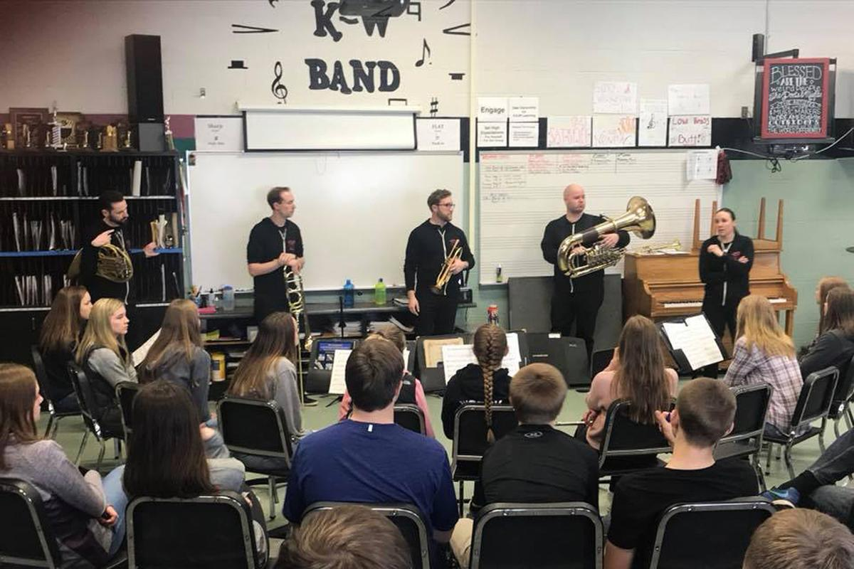 Copper Street Brass residency with K-W Band