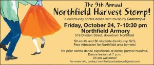 Contra Dance, Northfield Harvest Stomp set for Friday