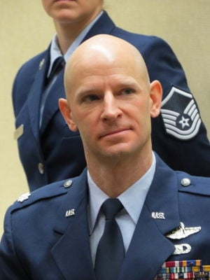 Lt. Col. Derek C. Leivestad, formerly of St. Peter, retires from the U. S. Air Force