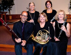 Dolce Wind Quintet performs at Contented Cow