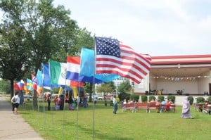 International Festival Flags flying