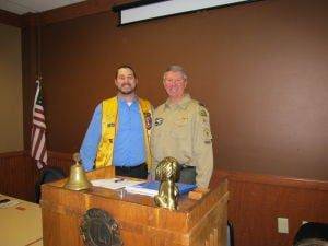 Waseca Lions hold meeting commemorating partnership with Waseca Scouts