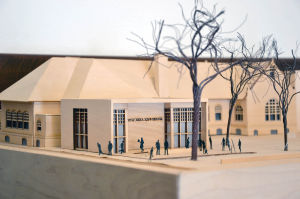 Arts Center entrance model