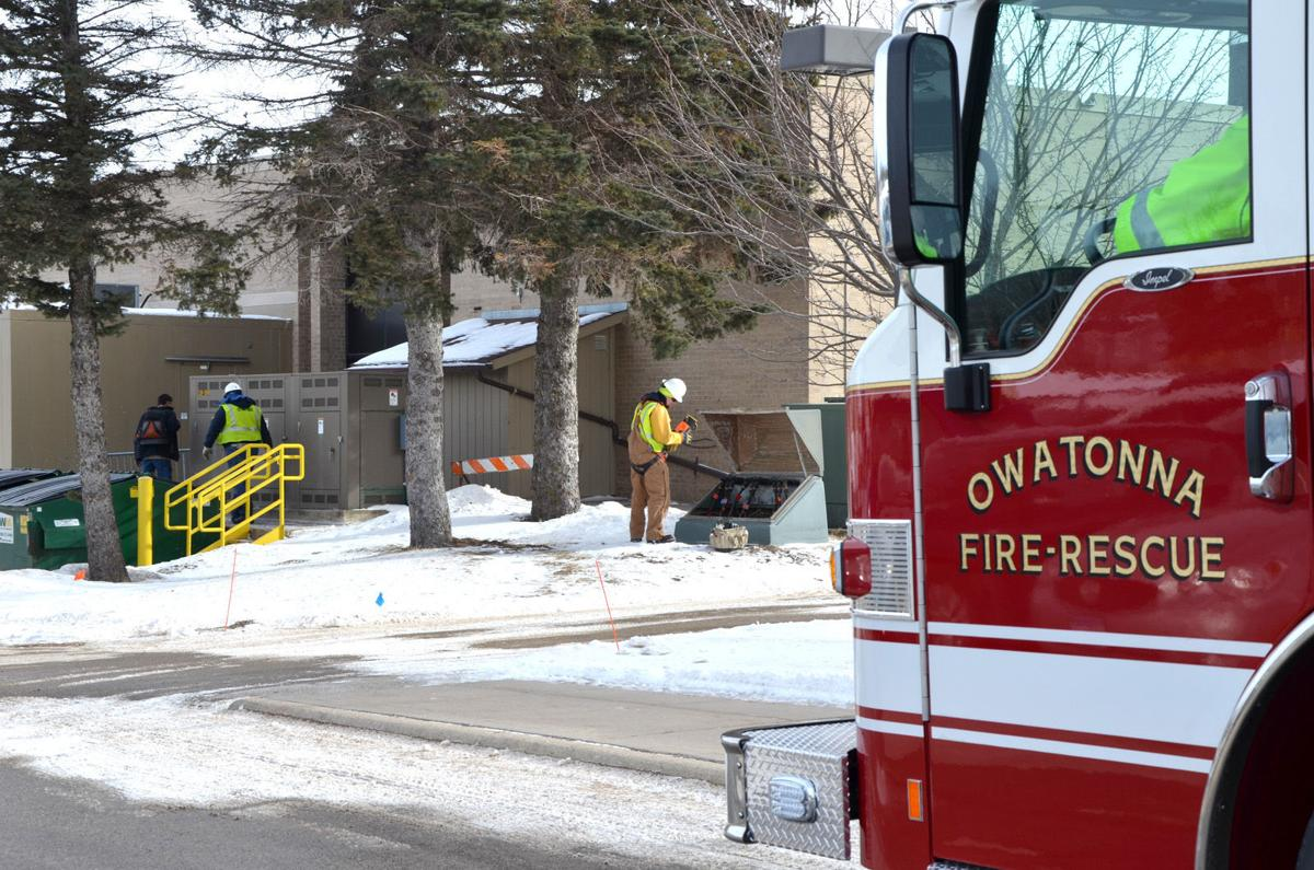 Minimal fire causes electrical main break at junior high