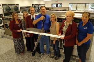 St. Peter Laundry Co. ribbon cutting