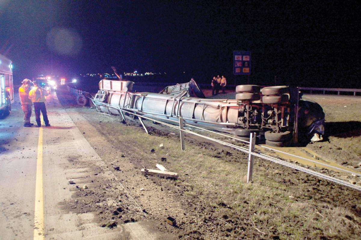 Tanker truck crash