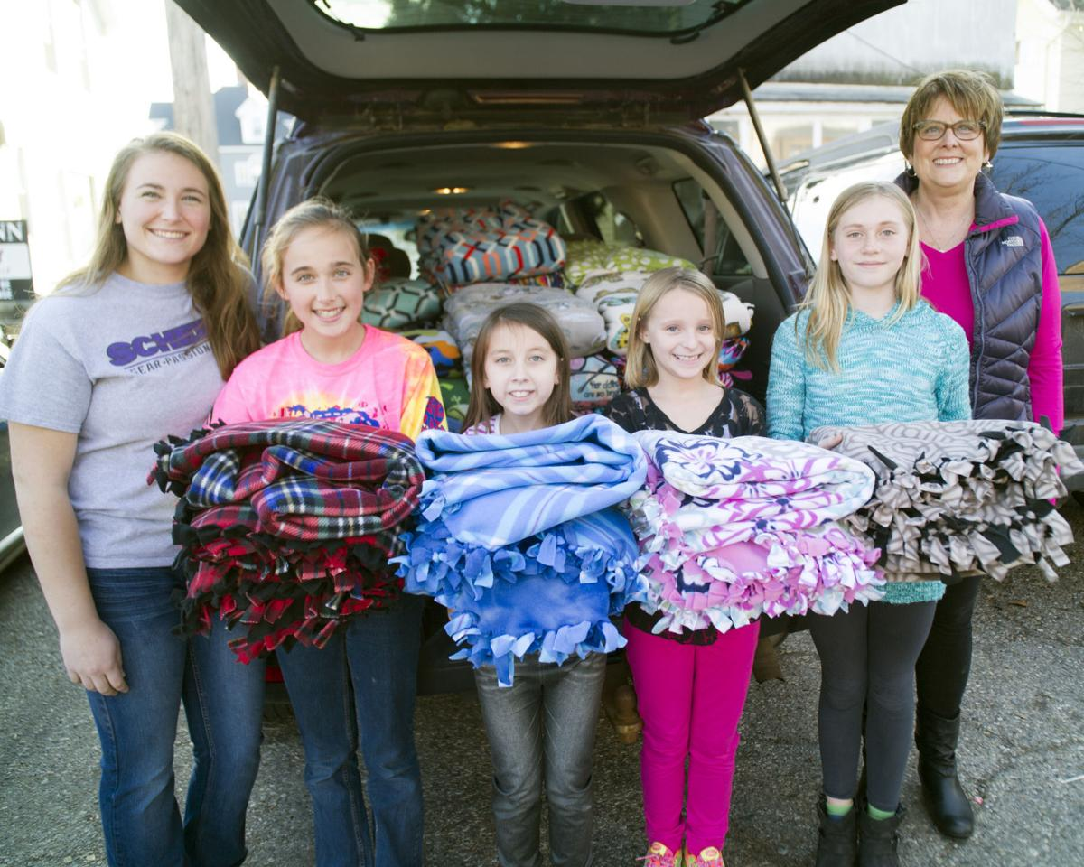 Tied with Care makes blankets for homeless