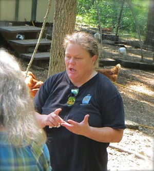 Rusnak conducts a farm tour at L&R Poultry & Produce