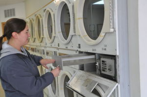 Maintenance at the Le Center Laundromat