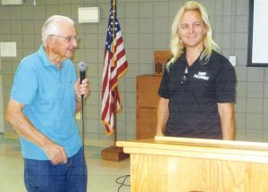 Nigel Watson of Camp Pillsbury presents program to Kiwanis Club