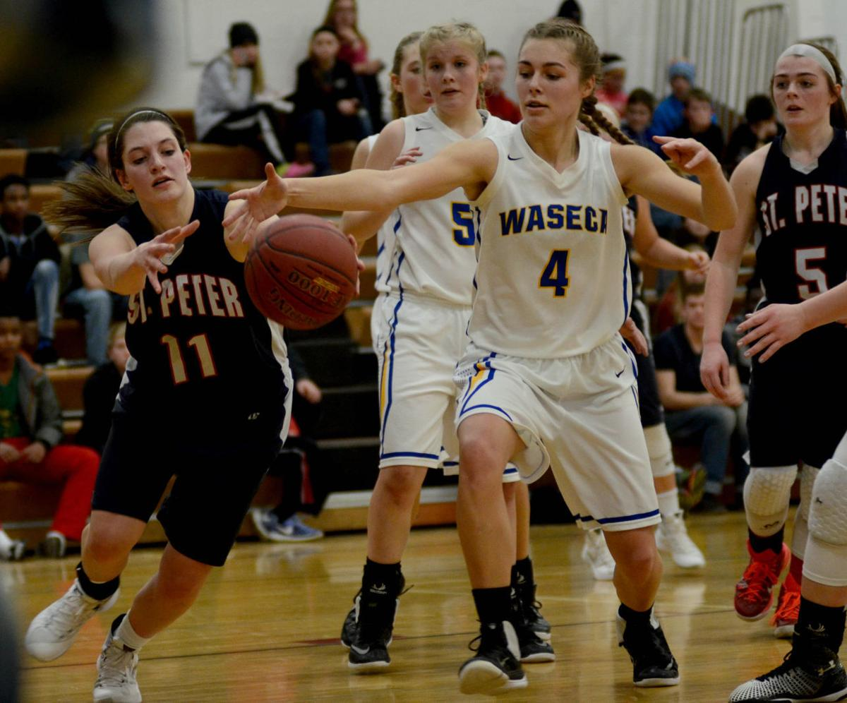 Waseca girls earn East Division crown with win over rival Saints