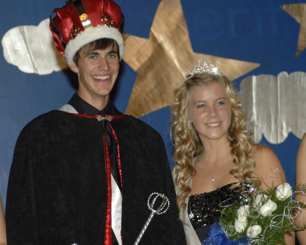 Homecoming King Marshall Friese and QueenShari Sahl