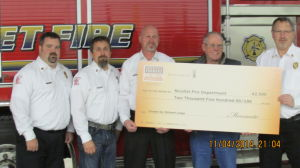 Nicollet County farmer supports local fire department