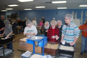 Faribault Middle Schoolers at Feed my Starving Children