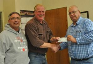 Chamber of Commerce presents check to city of Janesville