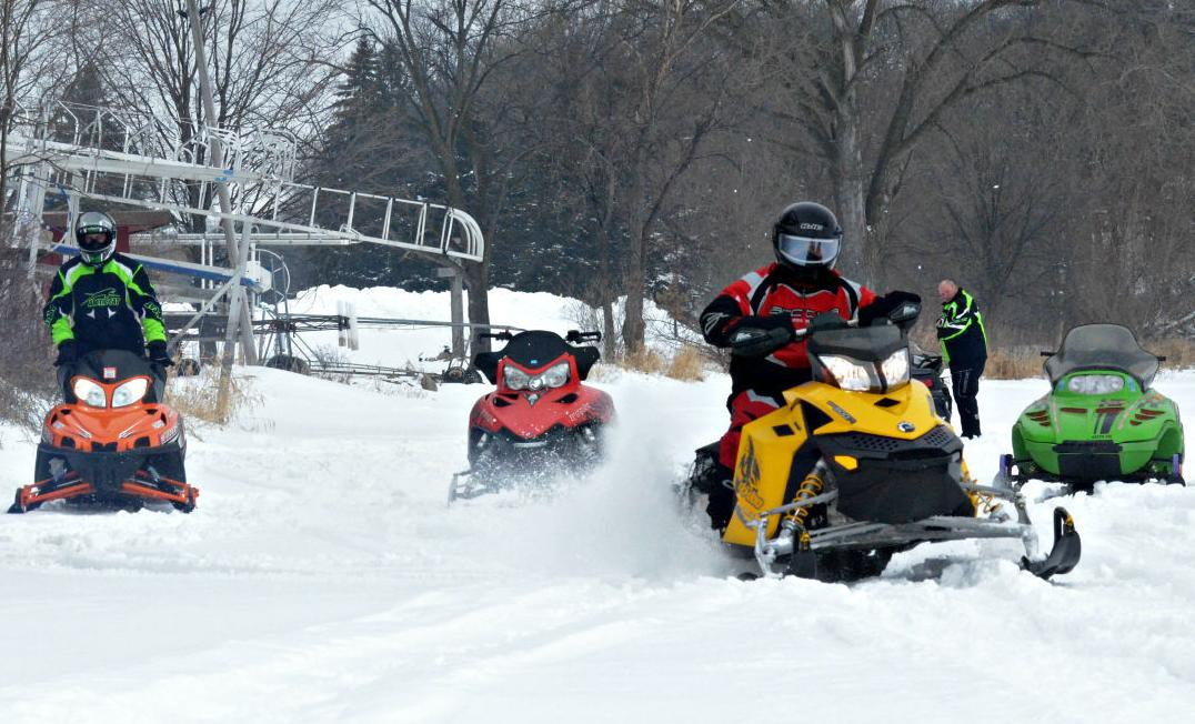 Perfect weather for annual snowmobile run pulls in record numbers
