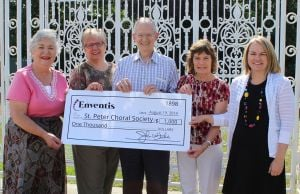 Enventis Foundation presents $1,000 Grant to St. Peter Choral Society