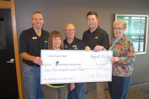 Owatonna Foundation receives donation from United Prairie Bank