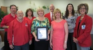 Chamber ambassadors deliver Progress Award to Prairie Lakes Regional Arts Council