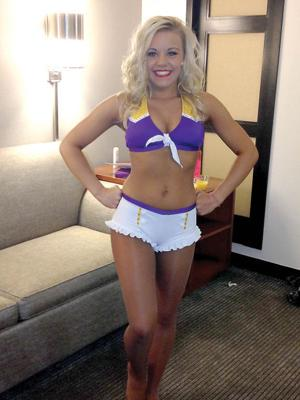 Vikings cheerleader hopeful