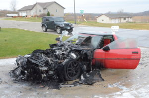 Corvette fire