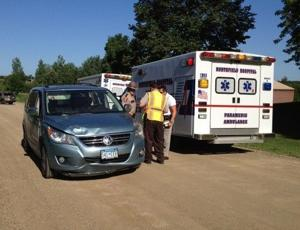 Minivan vs pedestrian