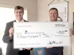 Monson Eyecare Center Donates to the Owatonna Foundation