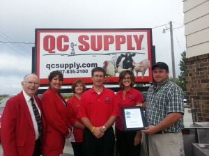 QC Supply awarded by Waseca Chamber