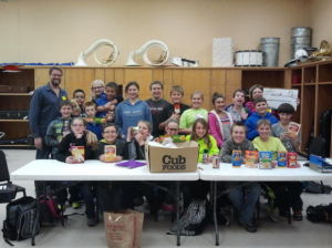 Le Sueur-Henderson service learning class donates to the food shelf