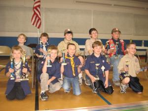 Pinewood Derby District Champions