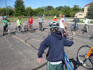 John Ireland students in St. Peter are keeping calm and biking on