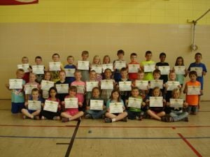 Waseca Fitness Gold Awards at Hartley Elementary