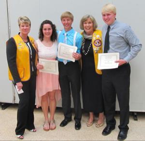 Waseca Lions scholarships recipients