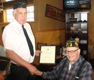 Ziebarth of Le Sueur celebrates 60 years of continuous membership with Legion