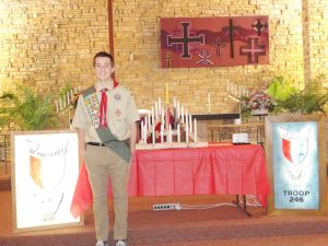 Martin Gleanson of Owatonna earns Eagle Scout rank