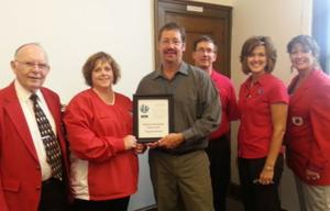 Waseca Post Office receives Chamber's Progress award