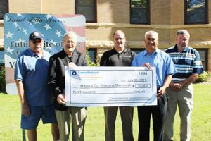 Consolidated Communications Community Fund presents grant to Waseca County Veterans Memorial